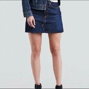 Diconstructed Low Waist DENIM Blue Mini Skirt